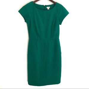 J. Crew Crepe Short Sleeves Career Dress